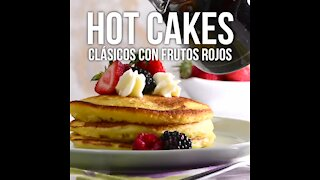 Classic Hot Cakes with Red Fruits