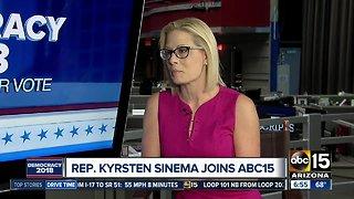 Kyrsten Sinema talks Senate race with ABC15