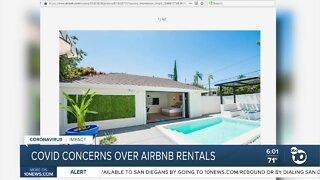 COVID concerns over Airbnb rentals