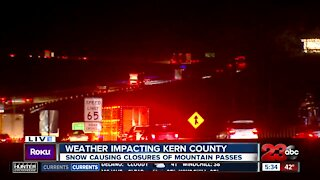 Weather impacting Kern County: I-5 S freeway opening after closures