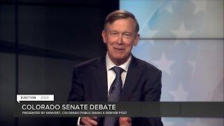 Debate: Hickenlooper on previous comment regarding Senate run