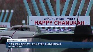 Car parade celebrates Hanukkah