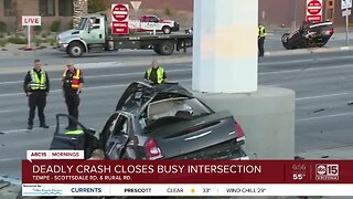 Deadly crash closes Scottsdale Road