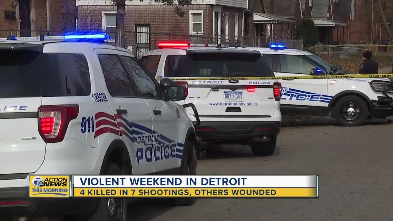 4 killed in 7 shootings across Detroit this weekend
