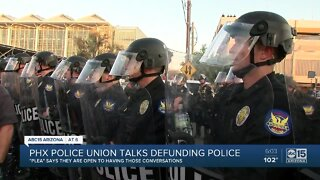 Phoenix police union talks defunding police