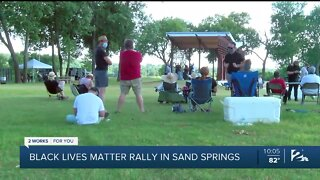Sand Springs hosts peaceful Black Lives Matter rally