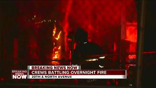 Milwaukee Fire Department battles 2 early morning house fires