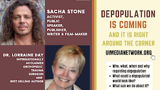 Depopulation Is Coming   with Sacha Stone and Dr. Lorraine Day