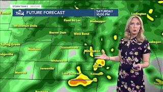 Heavy rain continues Saturday