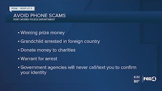 Fort Myers Police warning of phone scams
