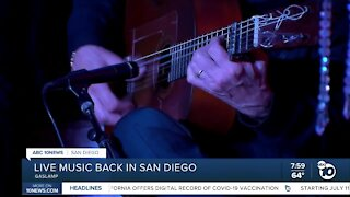 Live music back in San Diego