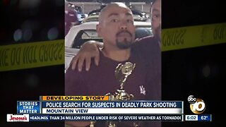 Police search for suspects in deadly park shooting