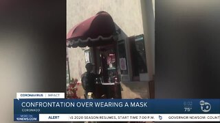 Confrontation over not wearing a mask at Coronado Coffee Shop