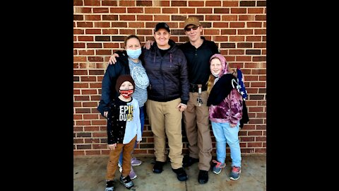 Thomasville frontline worker, family who lost home in fire gifted check, supplies from AIF & FF