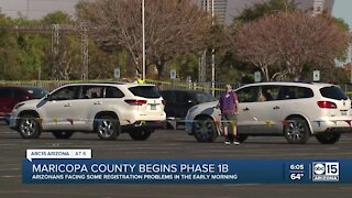 Maricopa County begins Phase 1B vaccinations