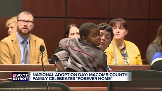 """National Adoption Day: Macomb County Family celebrates """"Forever Home"""""""