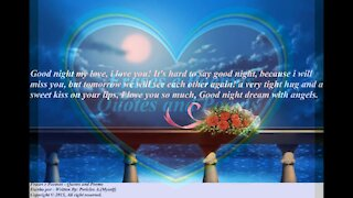 Good night my love, I will miss you, dream with angels! [Message] [Quotes and Poems]