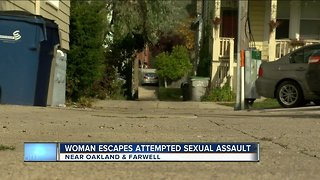 Woman nearly sexually assaulted while taking out trash