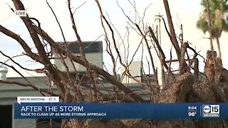 East Valley families working to clean up damage of Thursday night storms