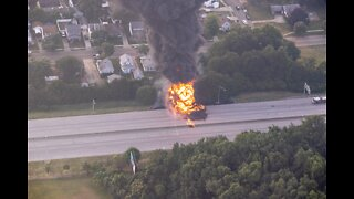 Fiery crash on Route 8 closes highway