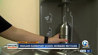 Highland Elementary School in Lake Worth Beach increases recycling