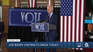 Democratic presidential candidate Joe Biden to campaign in Broward County on Tuesday
