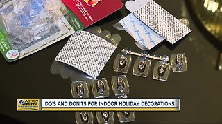 Do's and don'ts for indoor holiday decorations