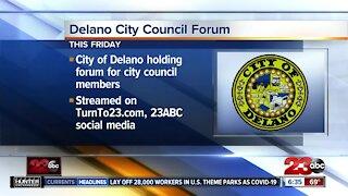 Delano hosting City Council forum