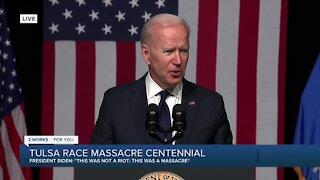 President Biden addresses Tulsa Race Massacre centennial