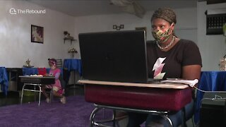 Cleveland boutique becomes virtual learning, child care center for students