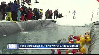 Bogus Basin pond skim celebrates the end of an epic season