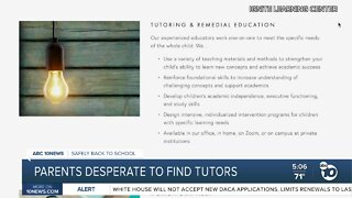 Parents desperate to find tutors as school year approaches