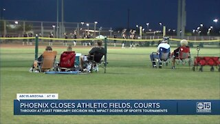 Phoenix closes athletic fields, courts