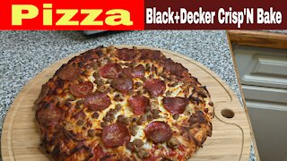 Air Fried Frozen Pizza Black and Decker Crisp and Bake