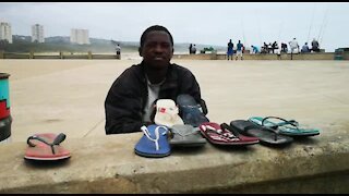 SOUTH AFRICA - Durban - Homeless man collects Flip Flops (Videos) (rFB)