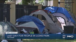 City of Fort Myers preparing to evict several homeless people from Lions Park