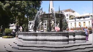 The Plaza in Puebla, Mexico