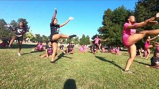 Devastation Dance Company dancing in Delaware Park