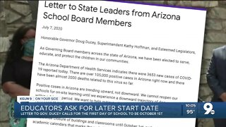 Arizona school leaders demand in-person classes be pushed to October