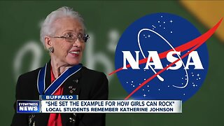 Local students remember pioneering mathematician Katherine Johnson