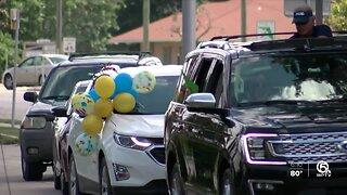 Student ACES Center celebrates high school seniors with surprise graduation parade
