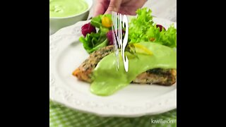 Salmon with Creamy Avocado Sauce