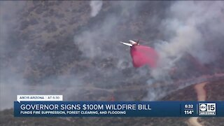 Governor signs $100 million bill to help wildfire fights