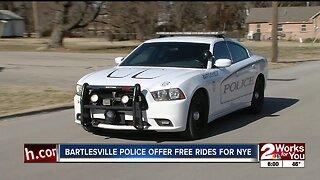 Bartlesville police offer free rides for NYE