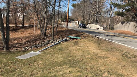 Route 106 accident scene south easton mass