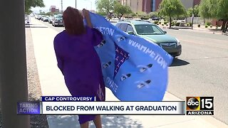 Valley senior turned away at graduation because of decorated cap