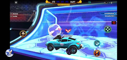 Rocket League gameplay: Capturing goals mode