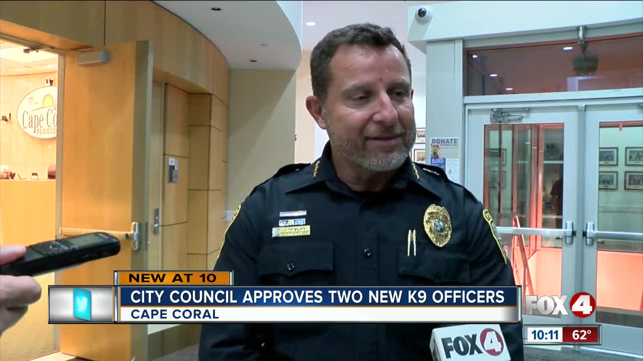 City council approves two new K9 Officers