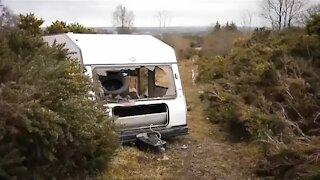 Exploring an abandoned caravan: What's inside. A short video