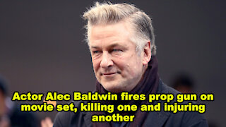 Actor Alec Baldwin fires prop gun on movie set, killing one and injuring another - Just the News Now